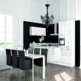 High Gloss White Color Lacquer Finish Slab Panel Modern Kitchen Furniture (ACS2-L303)