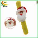 Wholesale Funny Christmas Cartoon LED Slap Bracelet