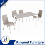 Best Sell Woodlike Painting Glass Dining Set Table and Chair