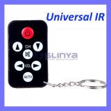 Mini Universal IR TV Remote Control 7 Keys with Keychain Black