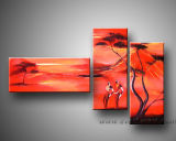 Modern Canvas Painting African Art Landscape Painting for Home Decor (AR-022)