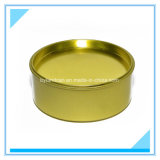 Round Metallic Tin Can-Gold Color_ for 200g Car Wax