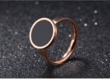 Fashion Black Circle Ring Female Personality Trendsetter Food Ring