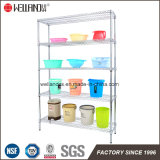 Popular Good Price Chrome 5 Shelf Double-Sided Shop Metal Wire Display Rack