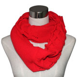 Ladies Acrylic Knitted Infinity Fashion Scarf (YKY4193-1)