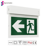 2017 New Product IP20 Rechargeable Emergency Exit Light LED Fire Safety Exit Sign Emergency Light