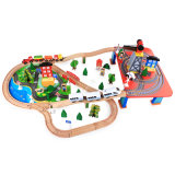 Deluxe Gift Electric Wooden Block Train with Bridges House for Kids