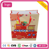 Red Model Railway Baby Presents Coated Paper Shopping Gift Bag