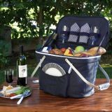 600d Polyester Material and 4 Persons Type Collapsible Picnic Basket