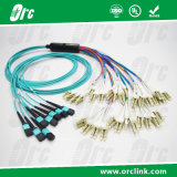 64f/72f/144f MPO-LC Om3/0m4 Pre-Terminated Cable Patchcord Connector 3m