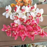 High Quality Silk Flower Decoraive Artificial Decorative Orchid Flower Arrangement