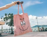 2018 White Shopping Bags Cotton Tote Handmade Pure Cotton Shopping School Books Trip Bag Women Shoulder Bag Shopping Cart Eco