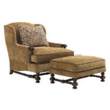 Solid Wood Frame Atique Design Chaise Lounge Chair (SCL-04)