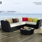New Style Top Quality Synthetic Rattan Outdoor Garden Furniture Cornor Sofa Set (YT327)