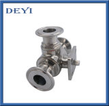 Sanitary Stainless Steel Three Pieces Non Dead Angle Ball Valve