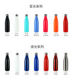 Mira 17 Oz Stainless Steel Vacuum Insulated Water Bottle Double Wall Cola Shape Thermos Water Bottle