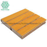 Baffle Fiberboard Recyclable Plastic Product Cheap Absorption Material Wood Fiber Acoustic Wall Fiberboard