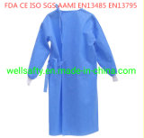 Cheap ANSI/AAMI PB70 Level 2 3 Disposable  Safety CPE Clothing SMS/PP/PE/Nonwoven Waterproof Isolation Gown with Xxxl Size &FDA Ce ISO for Operating Room
