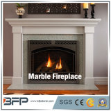 Customized Design Freestanding White Marble Fireplace Decoration
