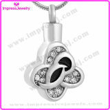 Memorial Necklace Four Leaf Pendants with Crystals Ijd9677