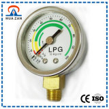 Stainless Steel 1.5 Inches 10kg Bourdon Tube LPG Pressure Gauge