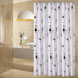 Popular Printed Waterproof Polyester Fabric Bathroom Shower Curtain (01S0010)