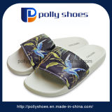 China Cheap Beach Printing Men Rubber Slipper Manufacturer