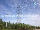 Double Circuit Tangent Transmission Line Steel Tower