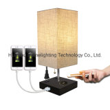 Jlt-57138e Home Modern Qi Wireless & USB Charging Table Desk Lamp with Convenient Outlet