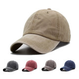 Men′s Vintage Cap, Custom Logo&Pattern Baseball Cap, Canvas, Solid Color Sun Cap