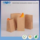Custom Brown Kraft Paper Cheap Food Pack Bakery Bread Packaging Bulk Packaging Bag Bolsa De Papel for Hamburger