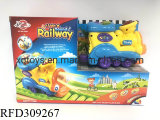 Kids Educational DIY Electric Railway Train with Sound and Light