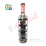 Wholesale LED Lighting Big Wine Bottle Floor Standing Display Racks