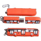 Silicone Bus Shaped USB Flash Drive (S1A-7101C)