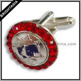 Quality Rhinestones Men Cuff Link for Gift (BYH-10233)