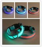 Wholesale LED Luminous Nylon Pet Dog Collars