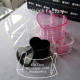 First Hand Factory Heart Shape Acrylic Flower Box with Lid