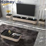 Easy Cleaning Indoor Furniture Oval Marble TV Cabinet TV Table