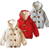 Korean Style Pure Color Cardigan Knitted Jacket Twist Knitwear