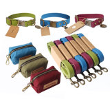 Wholesale Soft New Designer Luxury Waterproof PVC Custom Dog Collar and Leash Set Personalized with Poop Bag