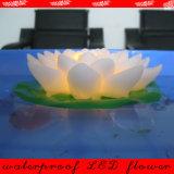 Fire Safe Waterproof Plastic Home Decoration Floating Garden Pool Use Romantic Luminary Flickering Lotus LED Flower Light