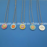 Wholesale Various 3D Saint Christopher Ball Chain ID Dog Tag Necklace