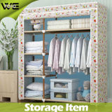 Bear Heavy Items Steel Bedroom Furniture Fabric Simple Wardrobe
