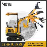 0.8 Ton to 3.5 Ton Cheap Mini Crawler Excavator