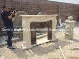 Manufacture Modern Style Freestanding White Stone Fireplace MFG-14