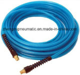 1/4'' PU Tube for Air Systems with Brass Coupling Both Ends (blue color)