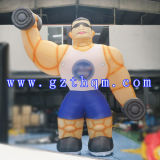 Giant Outdoor Customised Inflatable Cartoon/Muscle Male Inflatable Cartoon Model