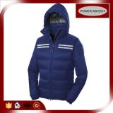 2015 Mens Two-Ways Zipper Down Jacket with Reflective Stripe