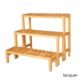 Multi-Purpose Wooden Rack Three Tier for Green Plants Flower Pot Antiseptic