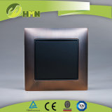 Ce/TUV/BV Certified EU Standard Metal Zinc Panel Wall Switch